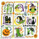 Tic Tac Halloween Cross Stitch Pattern