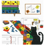 Crazy Quilt Cat - Cross Stitch Pattern