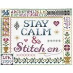 Stay Calm & Stitch On Cross Stitch Pattern