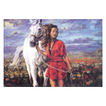 Tapestry 11.486 Girl with Horse