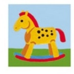 Tapestry Collection D'Art 11.448 Kid's Mini Tapestries [Design: 11 Rocking Horse]