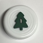 Button - 16mm Christmas Tree