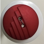 Button - 23mm Round Red