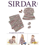 5150 - Dress, Bootee's & Blanket in Snuggly Baby Crofter DK Pattern