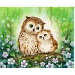 Mother & Baby Owl Tapestry Canvas 6.308