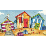 Beach Huts Cross Stitch Pattern - Heritage Crafts