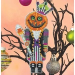 Pumpkin King Nutcracker- Satsuma Street - Halloween Ornament cross stitch kit