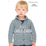 Boys Cable Cardi in Cleckheaton 8 Ply - 152