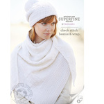 Check Stitch Beanie & Wrap 452