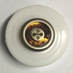 Button - 15mm Gold/Brown