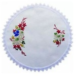 Flannel Flowers 30cm Round Traycloth Embroidery Kit 587107