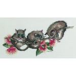 "Australian Collection ""POSSUMS"" Counted Cross Stitch Kit"