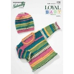 Loyal Baby Prints DK/8 Ply Rolled Edges Sweater & Hat K788