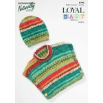 Baby Poncho and Hat in Naturally Loyal Baby Prints 8 Ply K790