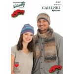 Gallipolli 4 Ply Print Two Hats & One Scarf N1367