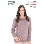 N1388 Sweater with Texture Panels 8 Ply