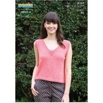 N1464 - V-Neck Top in Bio Sesia 3 10 Ply Pattern
