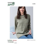 Raglan Jumper in Loyal Vegas Tweed 8 Ply N1473