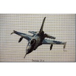 Aircraft - American F-16 & Fokker Friendship - Ross Originals Cross Stitch Chart