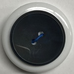 Button - 23mm Round Black/Blue