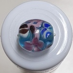 Button - 13mm Blue/Pink
