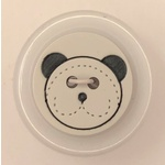 Button - 21mm Shiny Teddy 75 White