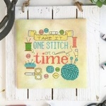 Modern Cross Stitch Quote - One Stitch at a Time Cross Stitch Pattern