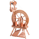 Traveller Spinning Wheel Double Treadle Double Drive Natural