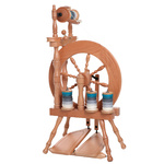 Traveller Spinning Wheel Double Treadle Single Drive Lacquered