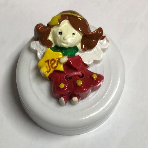 Button - 25mm Christmas Angel