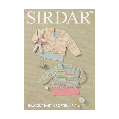 5c158dd0c18a Snuggly Baby Crofter 4 Ply 4820 Girl s Cardigans