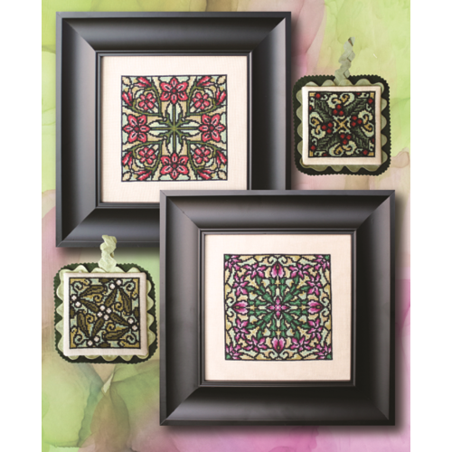 Stained Glass Christmas (M72) - Cross Stitch Pattern